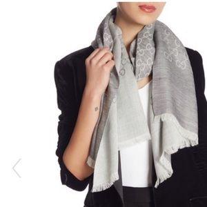🆕 NWT 🆕 GUCCI Logo Print Wool & Silk Blend Scarf